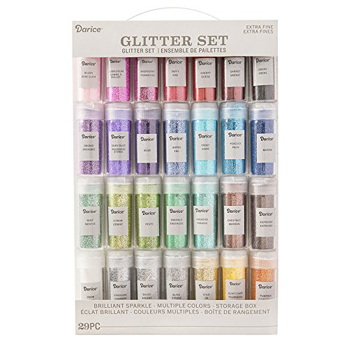 Darice 30029689 Extra Fine Glitter Set 29-Pieces Assorted Colors from Darice