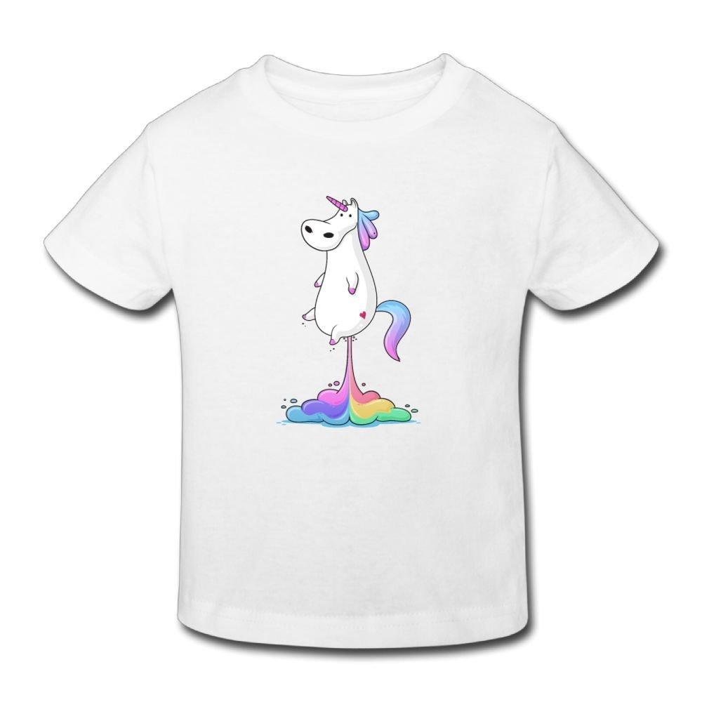 Riokk Az Kid 2-6 Years Birthday Funny Unicorn 1 Short-Sleeves Tshirt Girls-Boy