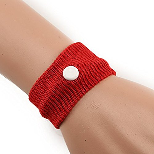 Wristbands Cars (Huasen Anti Nausea Sickness Motion Travel Wrist Bands for Car Sea Plane(Red))