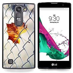 - Fence Maple Leaf - - Cubierta del caso de impacto con el patr??n Art Designs FOR LG Volt 2 / LG G4 Mini (G4c) Queen Pattern