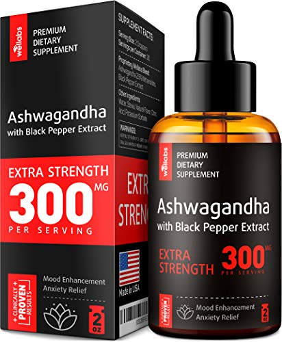 Premium Ashwagandha 300mg PER Serving – Pure Ashwagandha Supplement for Stress & Anxiety Relief – Made in USA – with Ashwagandha Root & Black Pepper Extract – Effective Cortisol Manager