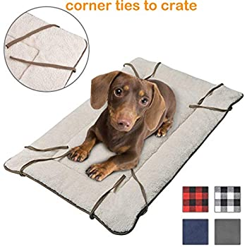 Amazon Com Dog Crate Liner With Ties Washable Fluffy