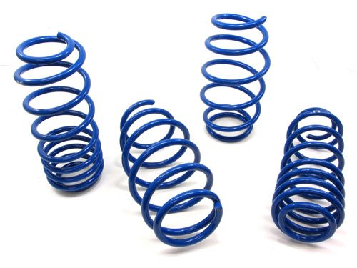 - 07 08 09 10 11 Toyota Yaris S Base Sedan M2 Lower Lowering Springs Blue
