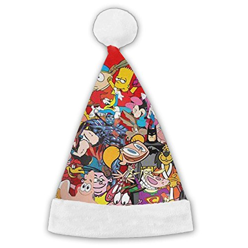 New Old Cartoon Network Characters Xmas Holiday Hat 3D Graphic Printed Christmas Xmas Hat For Children And Adult Cartoon Christmas Carolers