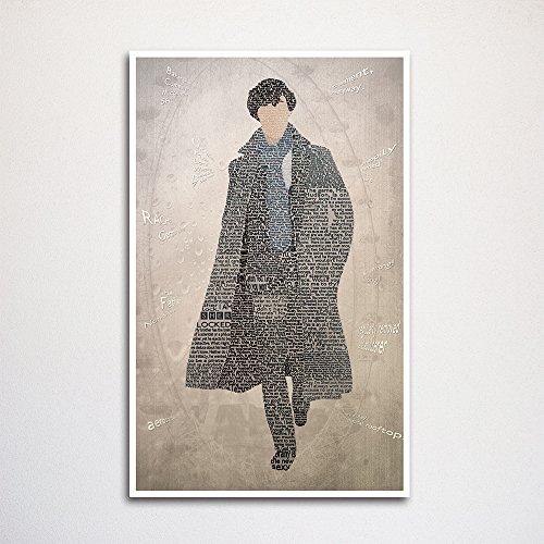 """Sherlock word art print -11x17"""""""