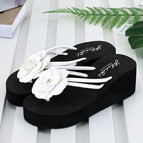 Beach Playa para Plataforma Cuña Mujeres Logobeing Chanclas Mujeres Cuña de con con y Zapatos Sandalias C Zapatillas para xC4Onq8