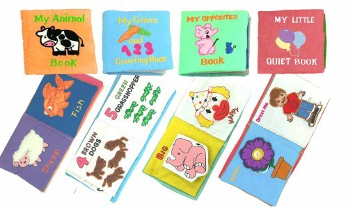 Pockets of Learning My Little Quiet Books, Four Activity Busy Books for Baby and Toddlers