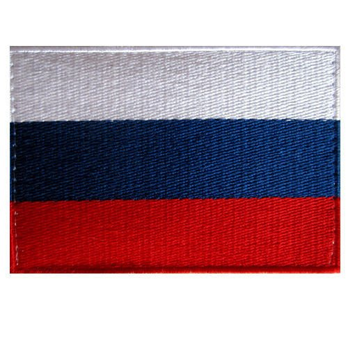 Super Russian Flag Embroidered Patch Russia Tricolor Hook Loop 9Cm X 6Cm Size M