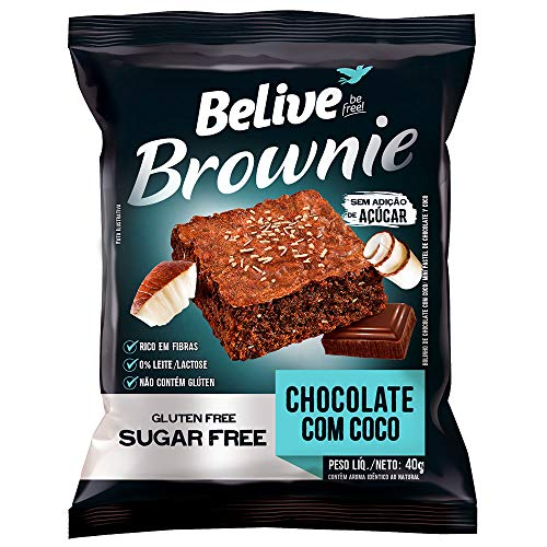 Brownie Belive Chocolate Com Coco
