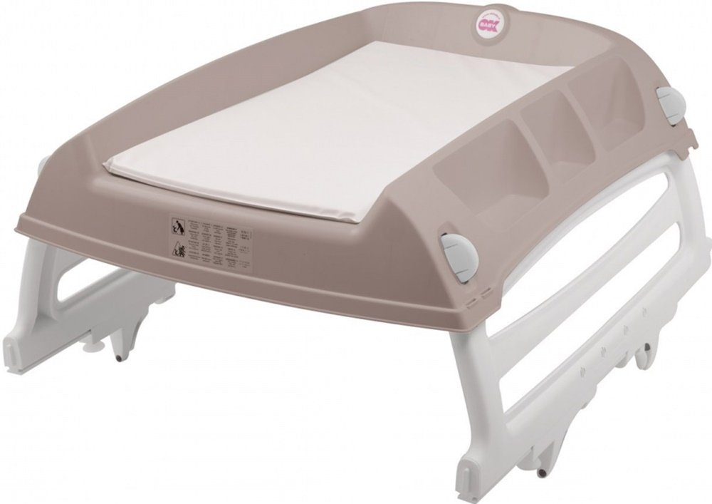 OKBaby Flat Over-bath and Cot-top Changing Unit, Grey 16-49-036