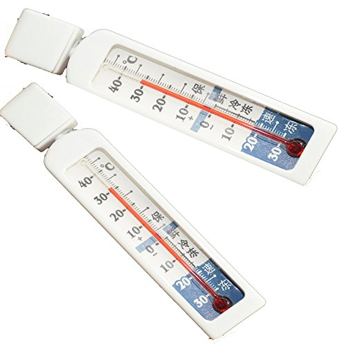 ( Pack of 2 ) Kitchen Fridge Freezer Refrigerator Refrigeration Thermometer Safe Food Storage,Centigrade Thermometer For Scale Hydrometer Home brew Wine Beer Cider Making,-30°C ~ 50°C