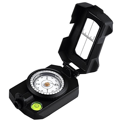 Eyeskey [New] Waterproof Multifunctional Military Aluminum Alloy Compass with Inclinometer for Camping, Hiking, Hunting, Motoring, Boating