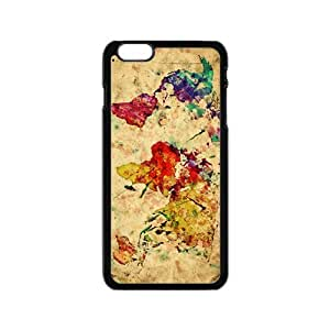Watercolor world map Cell Phone Case for Iphone 6