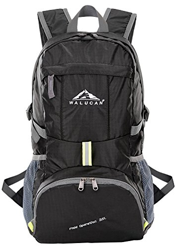 WALUCAN Hiking Backpack Daypack Back Pack Lightweight Foldable Packable Outdoor Waterproof Travel...