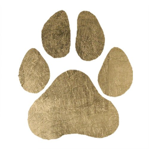 Gold Paw Print Temporary Tattoo (10 Pack) -