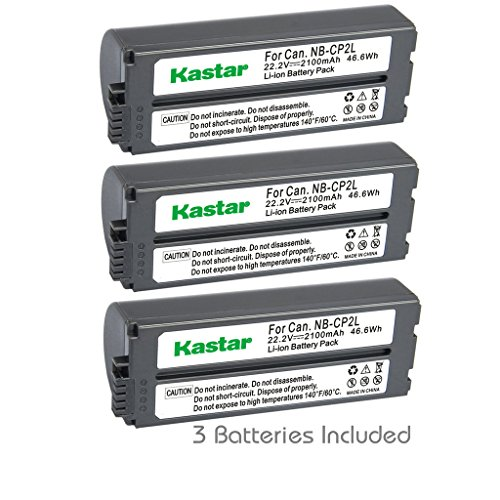 (Kastar Battery NB-CP2L (3-Pack) for Canon NB-CP1L NB-CP2L and Canon Compact Photo Printers SELPHY CP100 CP200 CP220 CP300 CP330 CP400 CP510 CP600 CP710 CP730 CP770 CP780 CP790 CP800 CP900 CP910)