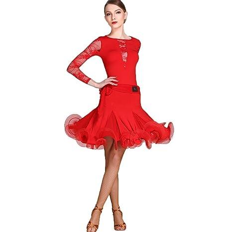 JTSYUXN Vestido Profesional De Competencia De Baile Latino para ...