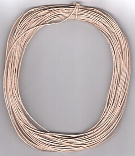 1 MM Natural-Untreated Leather Cord 25 Meters Hank (82 Feet)