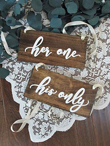 Olga212Patrick Wedding Chair Sign Plaque Set Wooden Wedding Sign Plaque Sweetheart Table Sign Plaque her one his only Rustic Wedding Sign Plaque Bridal Shower Gift mr mrs -