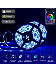 Led Strips Lights 10M, Tehwaaz 32.8ft RGB Led Rope Lights with 20 Keys IR Remote Controller and App Bluetooth Controlled Mood Light for Home Kitchen Christmas Wedding Party DIY Decoration