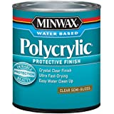 Minwax 64444444 Polycrylic Protective Finish Water Based, quart, Semi-Gloss