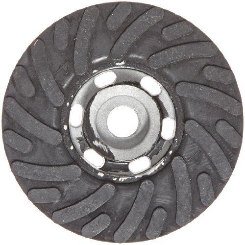 Merit MP-450 4-1/2 Diameter Spiral Cool Back-Up Pad for Quick-Change Resin Fiber Sanding Disc (Pack of 1) by Merit - Resin Spiral