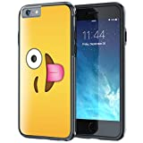 iPhone 6 6s Case, True Color® Emoji Winking Eye 3D Printed on Hybrid Cover Hard +Soft Slim Durable Protective TPU Bumper +Stylus & Screen Protector [Allover Collection]