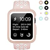 BRG Compatible with Apple Watch Band 38mm 42mm with Case, Shock-Proof Protective Case with Silicone Strap Replacement for iWatch Series 3,Series 2,Series 1 …
