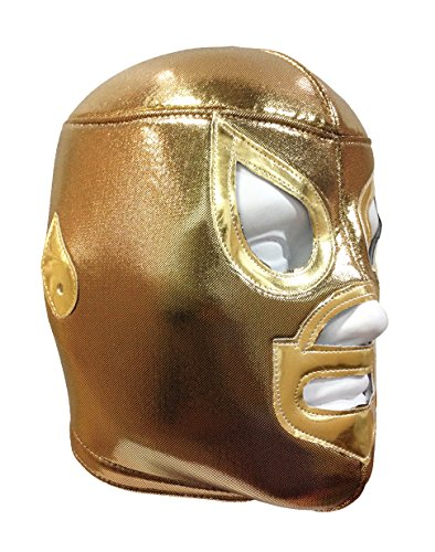 GOLDEN SAINT Adult Lucha Libre Wrestling Mask (pro-fit) Costume Wear - Gold by Mask Maniac