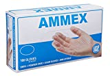AMMEX - VPF62100 - Medical Vinyl Gloves - Disposable, Powder Free, Latex Rubber Free, Exam, 4 mil, Small, Clear (Case of 1000)