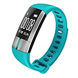 CZRDR G20 Smartwatch Bluetooth Blood Pressure ECG Date Heart Rate Monitor Wristband Call SMS for Android IOS (Sky Blue)