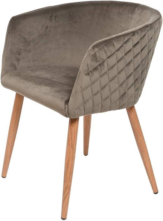 Kaemingk 2er Set Sessel Samt Grau Stuhl Esszimmer Esszimmerstuhl Armlehnstuhl Armlehne Amazon De Kuche Haushalt