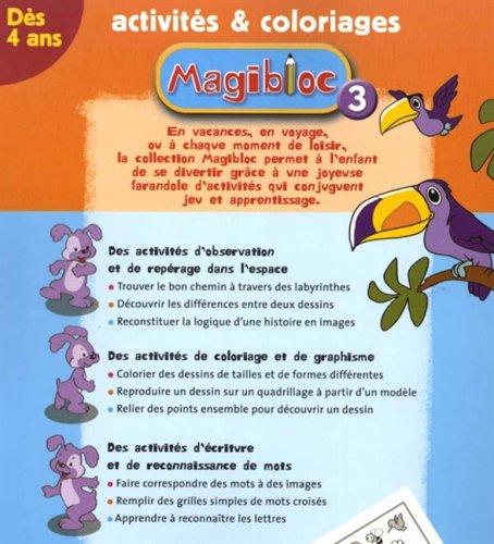 Coloriage Reperage Dans Lespace.Magibloc 3 Activites Coloriages Amazon Fr Alma Livres
