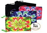 MyEyeglassCase 5X microfiber sunglasses glasses gadgets cleaning & storage pouch (Tie Dye Mix)