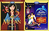 Disney 4 Movie Collection Aladdin King of Thieves + The Return of Jafar & Mulan and Mulan II Animated