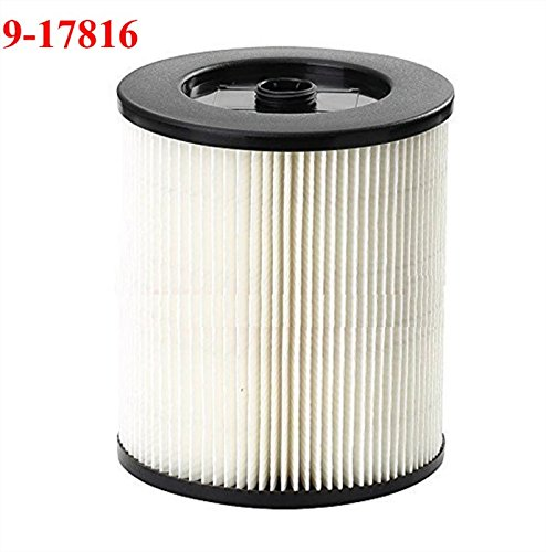 HIFROM Replacement Filter Fit Shop Vac Craftsman 9-17816 Wet Dry Vacuum Air Cartridge Filter (2 Pcs) by HIFROM (Image #1)