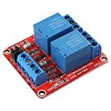 12V 5mA 2-Channel Relay Module Board With Optocoupler Isolation High and Low Level Trigger For Arduino