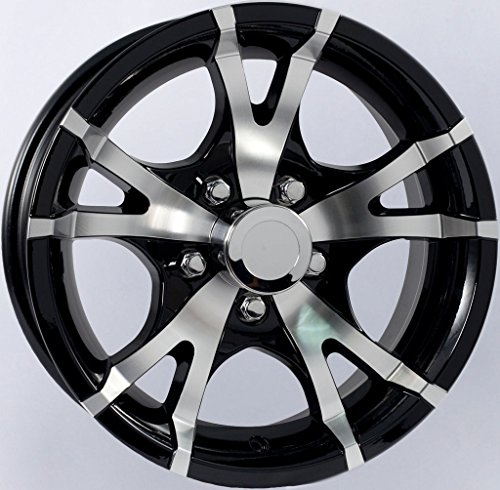 eCustomRim Two Aluminum Sendel Trailer Rims Wheels 5 Lug 14