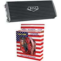 BOSS AR3000.2 3000W 2-Channel Car Audio Amplifier Power AR30002 + 4 Ga Amp Kit