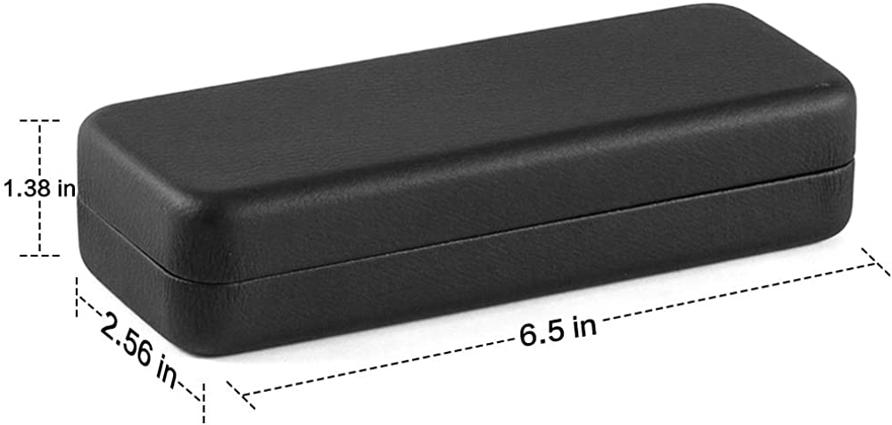 Glasses Case Hard Shell Protective Case for Glasses Sunglasses Holder With Cleaning Cloth