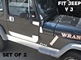 Fits Jeep Wrangler Yj Aluminum Diamond Plate Side