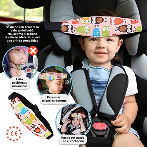 Tillmanns Kids® Sujeta Cabezas Coche Para Niños - ÚNICO Set Coche Bebé de 2+1 Soportes de Cabeza Para Silla Coche - Reposa Cabezas Niña y Niño