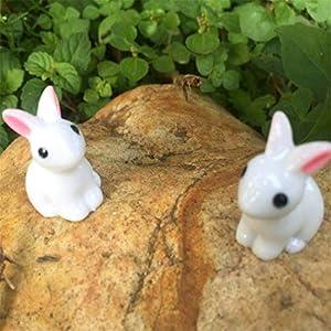 Molinter Mini Decorazione da Giardino Coniglio Bambola Micro Paesaggio Ornamento in Resina per casa delle Bambole mobili da Giardino Decorazione Giardino 4 Pezzi/Set 5 spesavip