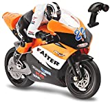 remote motorcycle - Top Race 4 Channel RC Remote Control Motorcycle Goes on 2 Wheels with Built in Gyroscope, 1:10 Scale