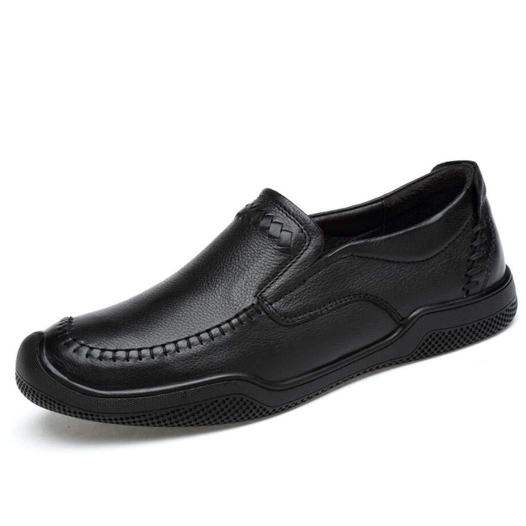 Zxcvb Die erste Schicht von Leder Herren niedrig, High-End-Casual Comfort Wild Schuhe Rutschfeste Gummi Outsole Dad Schuhe zu helfen