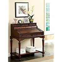 Furniture of America Elaine Traditional Secretary Desk