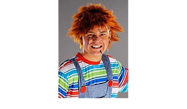Delights Chucky Style Messy Ginger Peluca para Hombre: Amazon.es: Juguetes y juegos