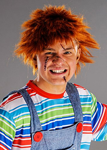 Mens Chucky Style Messy Ginger Wig