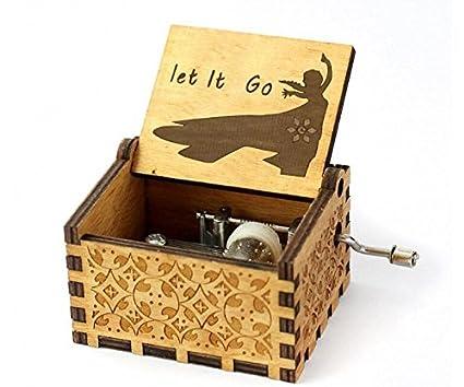 Cuzit Caja de música transparente acrílico manivela de mano mecanismo de juguete caja musical – Harry