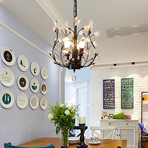 Small Chandeliers For Dining Room: Garwarm Modern Crystal Chandeliers, Small Chandelier